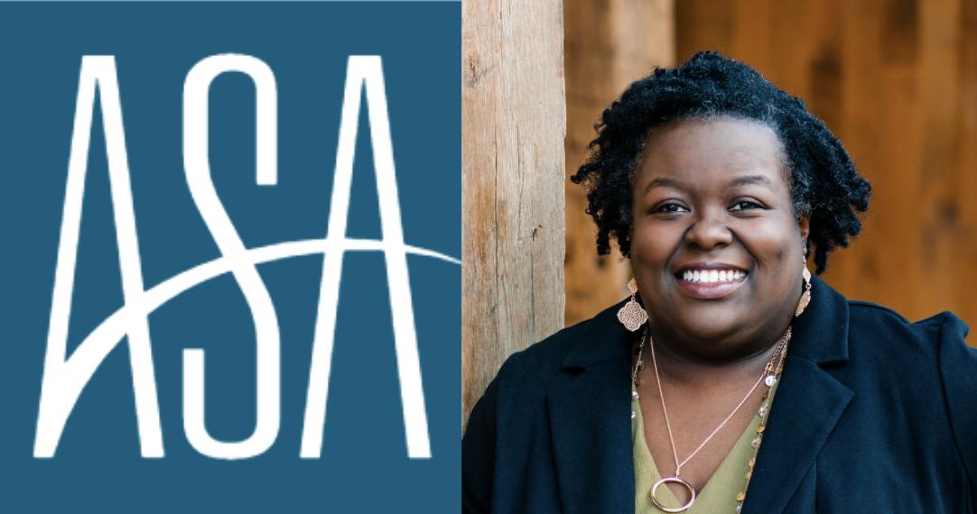 ASA logo and headshot of DeLibra Wesley